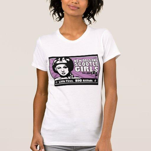 "(front only) NOSG ""Helmet Girl"" Light color tshirt Shirt"