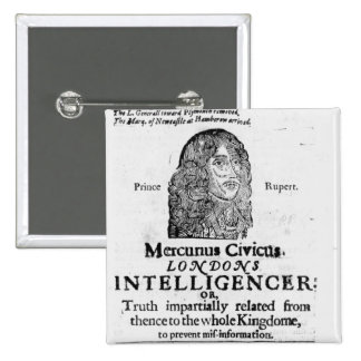 Front page from 'Mercurius Civicus' 2 Inch Square Button