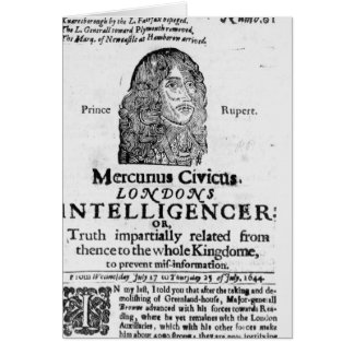 Front page from 'Mercurius Civicus' Card