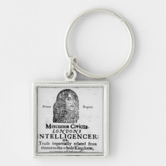 Front page from 'Mercurius Civicus' Silver-Colored Square Keychain