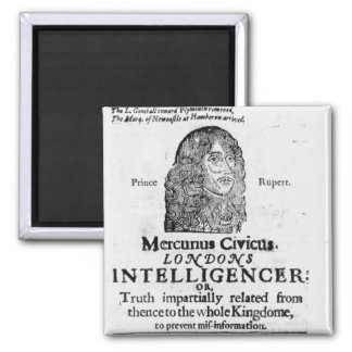 Front page from 'Mercurius Civicus' Refrigerator Magnet