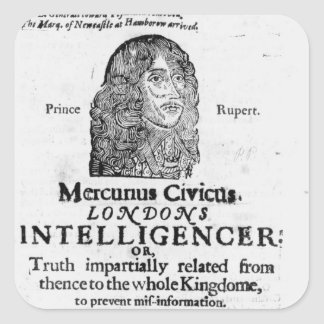 Front page from 'Mercurius Civicus' Square Sticker