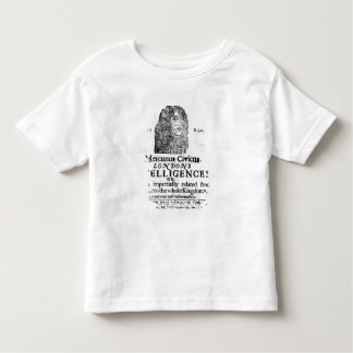 Front page from 'Mercurius Civicus' Toddler T-shirt