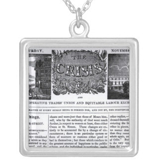 Front page of the 'National Co-operative Trades' Silver Plated Necklace