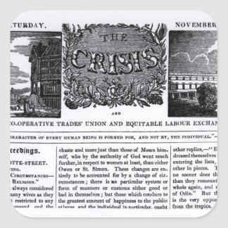 Front page of the 'National Co-operative Trades' Sticker