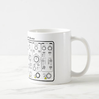 Front Panel of an Oscilloscope Voltage Tester Coffee Mugs