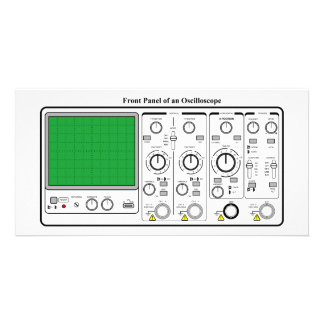 Front Panel of an Oscilloscope Voltage Tester Personalized Photo Card