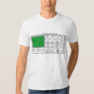 Front Panel of an Oscilloscope Voltage Tester T-shirt