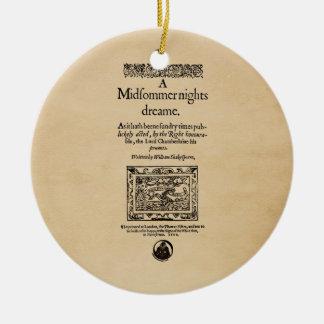 Front Piece to A Midsummer Nights Dream Quarto Ceramic Ornament