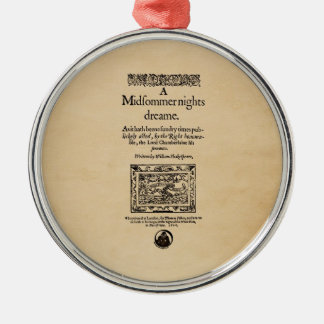 Front Piece to A Midsummer Nights Dream Quarto Metal Ornament
