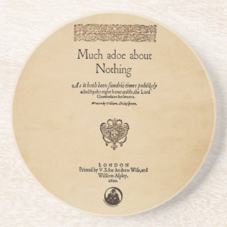 Front Piece to Much Ado About Nothing Quarto Coaster