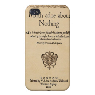 Front Piece to Much Ado About Nothing Quarto iPhone 4/4S Case