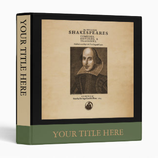 Front Piece to Shakespeare's First Folio Binder