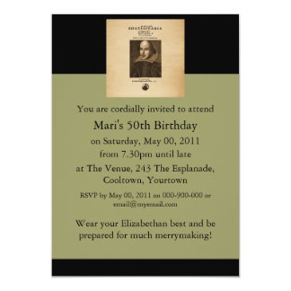 Front Piece to Shakespeare's First Folio Card