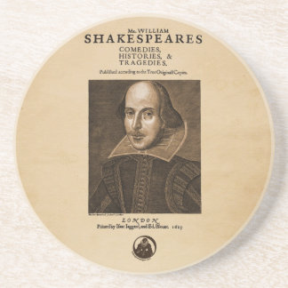Front Piece to Shakespeare's First Folio Coaster
