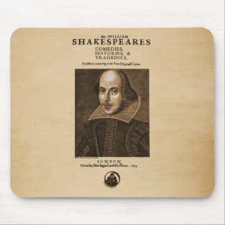 Front Piece to Shakespeare's First Folio Mouse Pad