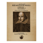 Front Piece to Shakespeare's First Folio Poster