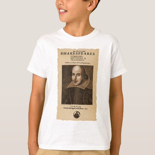 Front Piece to Shakespeare's First Folio T-Shirt