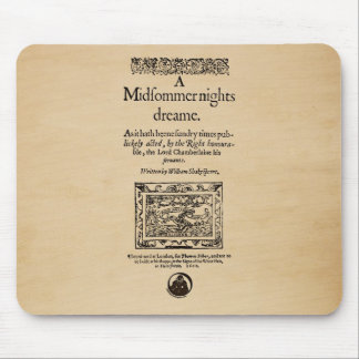 Front Piece to the A Midsummer Nights Dream Quarto Mouse Pad