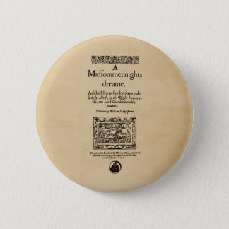 Front Piece to the A Midsummer Nights Dream Quarto Pinback Button