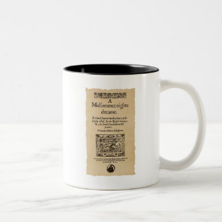 Front Piece to the A Midsummer Nights Dream Quarto Two-Tone Coffee Mug