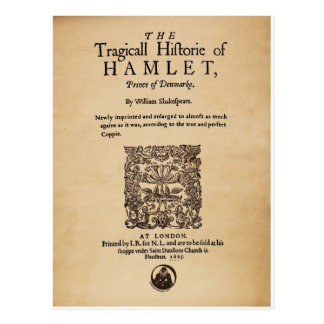 Front Piece to the Hamlet Quarto (1605 version) Postcard
