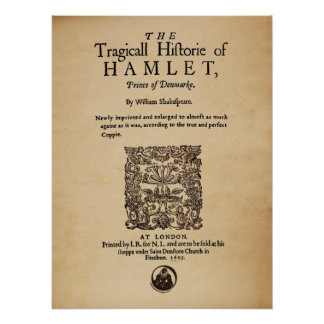 Front Piece to the Hamlet Quarto (1605 version) Poster