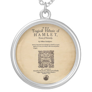 Front Piece to the Hamlet Quarto (1605 version) Round Pendant Necklace