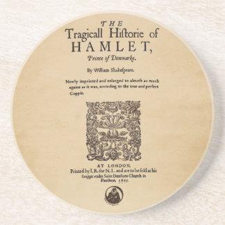 Front Piece to the Hamlet Quarto (1605 version) Sandstone Coaster