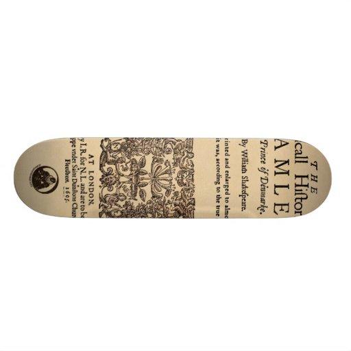Front Piece to the Hamlet Quarto (1605 version) Custom Skateboard
