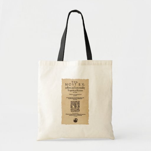Front Piece to the Romeo & Juliet Quarto (1599) Budget Tote Bag