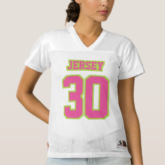 Front PINK LIME GREEN WHITE Womens Football Jersey