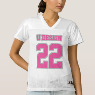 Front PINK SILVER GRAY WHITE Women Football Jersey