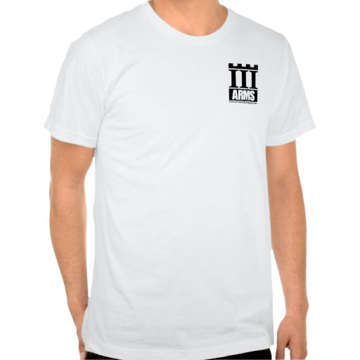 Front pocket logo, Text on back - III Arms shirt