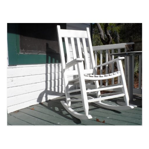 Front Porch Rocking Chair Postcard  Zazzle