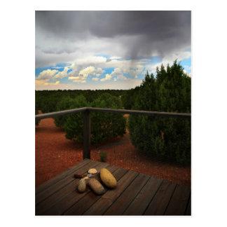 Front porch storm postcard