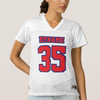 Front RED NAVY BLUE WHITE Womens Sports Jersey
