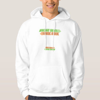 Front Seat / Back Seat hoodie with cheat sheet