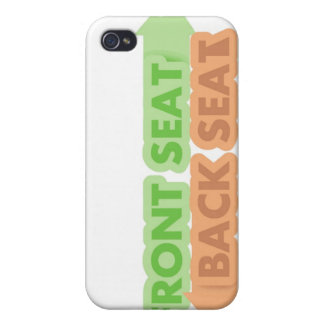 Front Seat / Back Seat iPhone Case iPhone 4 Cases