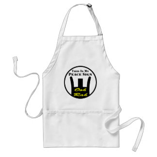 Front Sight This Is My Peace Sign Ooh-Rah Adult Apron