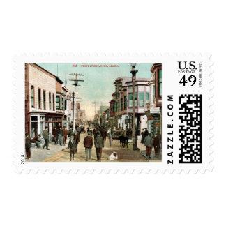 Front St., Nome, Alaska c1910 Vintage Stamp