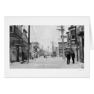 Front Street Nome, Alaska 1912 Greeting Card