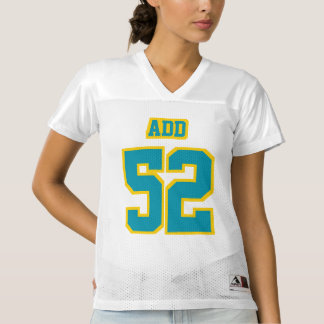 Front TEAL GOLDEN YELLOW WHITE Womens Sport Jersey