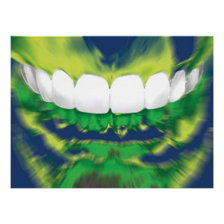 Front Teeth Design Dentist Orthodontist Poster