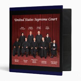 Front U S Supreme Court - Back S Court Seal Vinyl Binders