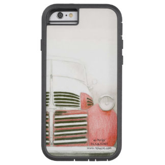 Front view '49 Dodge pickup soft red & white Tough Xtreme iPhone 6 Case