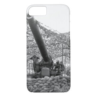 Front view of 240mm howitzer of_War Image iPhone 8/7 Case