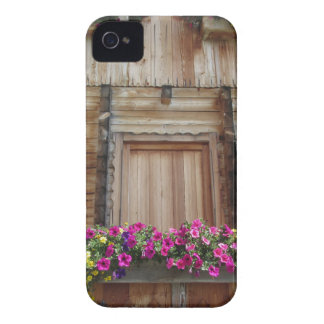 Front view of a wooden mountain cabin iPhone 4 Case-Mate case