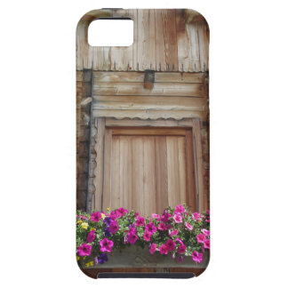 Front view of a wooden mountain cabin iPhone SE/5/5s case