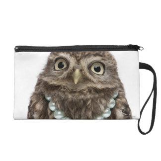 Front view of a Young Little Owl Wristlet Clutches